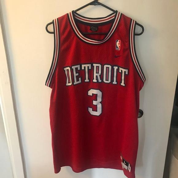 watch 175a5 a0faa Ben Wallace Detroit Pistons Jersey